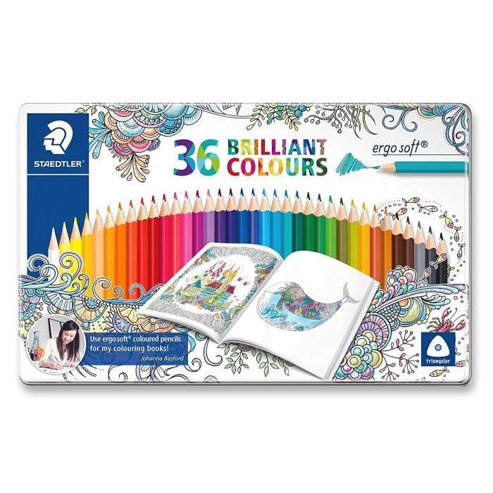 Crayons de couleurs triangulaire ergosoft, Johanna