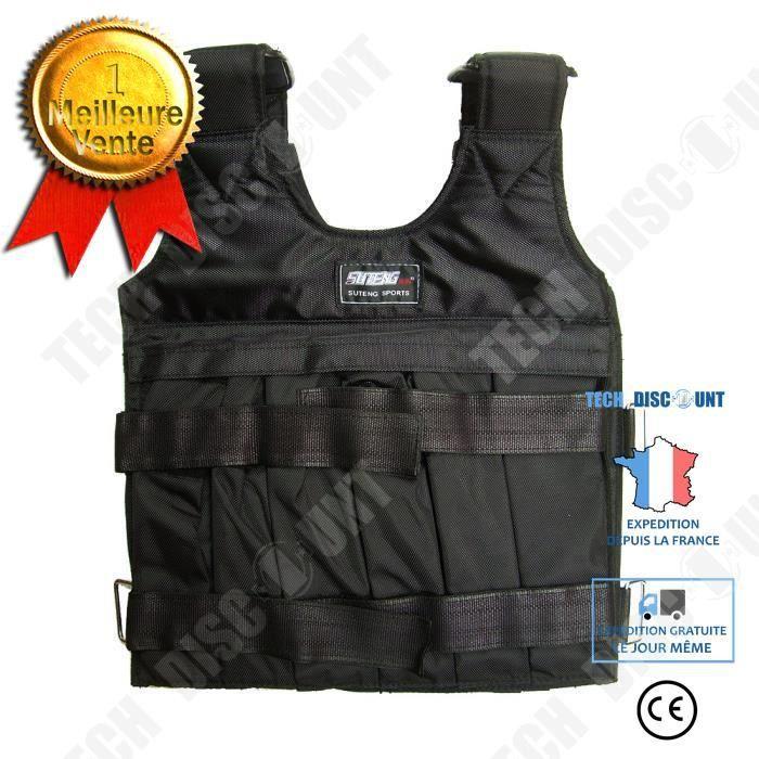 TD® Veste lestée/ Gilet d'entraînement de Course / Entraînement en Force et Endurance/ Poids Max :10 KG/ Musculation Sport