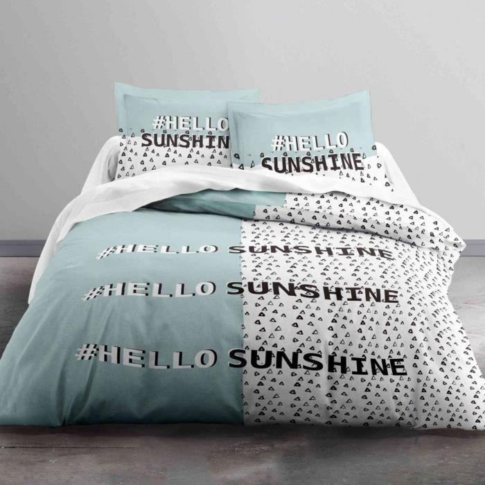 TODAY Parure de couette Enjoy HELLO SUNSHINE 100% coton 220x240 cm