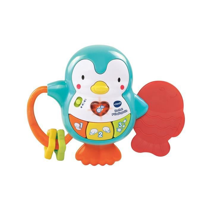 VTECH BABY - Hochet P'tit Pingouin - Hochet Bébé