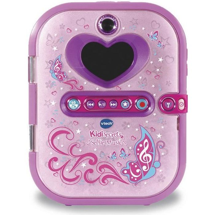 VTECH - Kidisecrets Selfie Music Rose - Agenda Electronique Musical