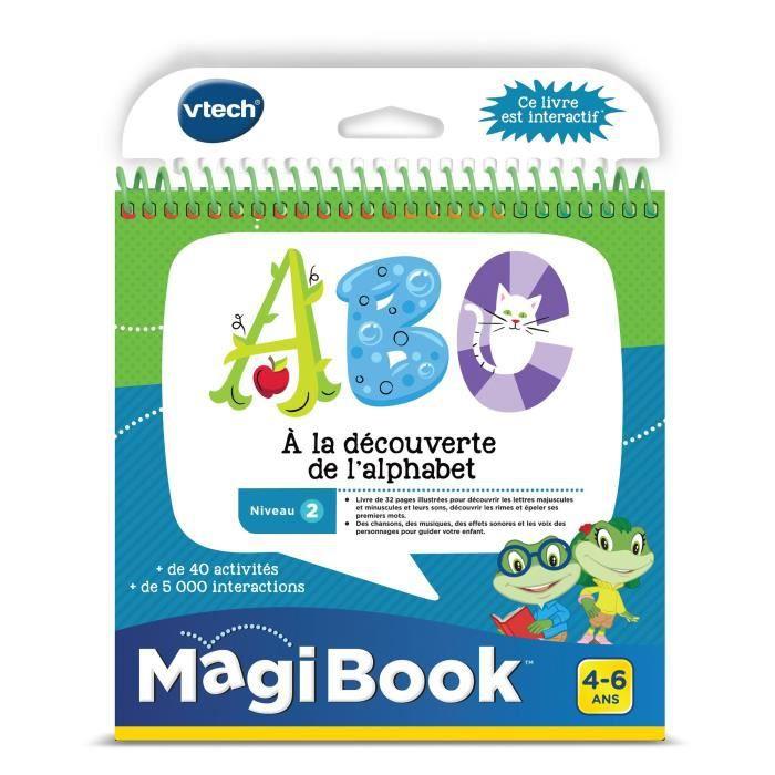 VTECH - Livre Interactif Magibook - ABC, À La Découverte De L'Alphabet