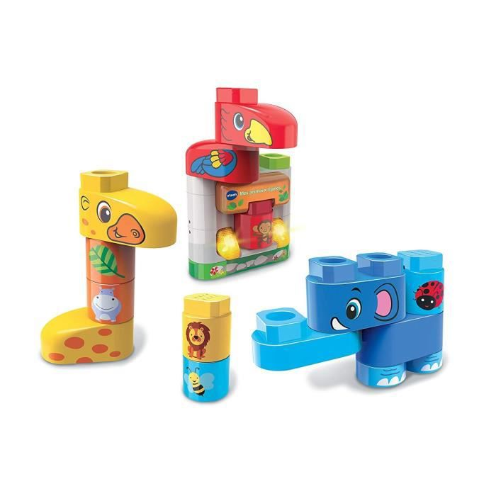 VTECH - Bla Bla Blocks - Mes Animaux Rigolos - Blocs Parlants à Connecter