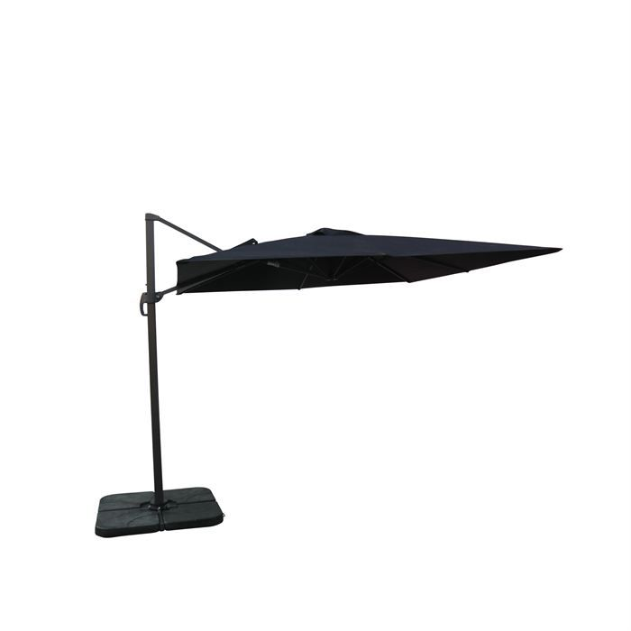 parasol d port carr 3x3m excentr inclinable achat. Black Bedroom Furniture Sets. Home Design Ideas
