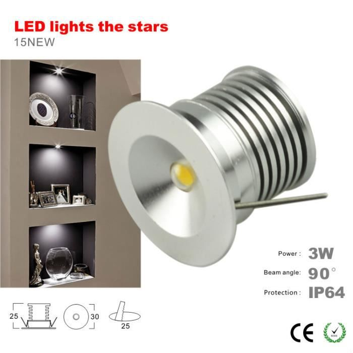ip65 ext rieur 3w lumi re du parti lampe 25mm de plafond mini led downlight rohs ce achat. Black Bedroom Furniture Sets. Home Design Ideas