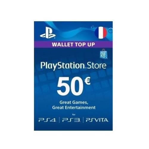 PACK PERIPHERIQUE PSN Card 50€ - Clé PS3 / PS4 / PSVITA - FRANCE SEU