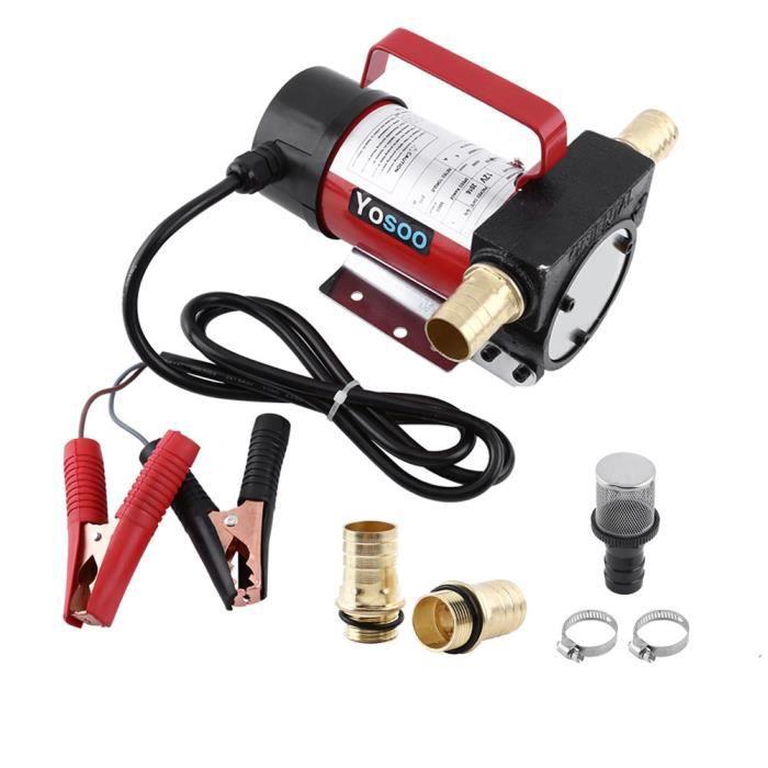 Pompe de transfert de carburant Diesel /électrique Compteur automatique Pompe /à carburant Buse de carburant carburant//huile Biodiesel Pompe distributrice kit 550/W 60L