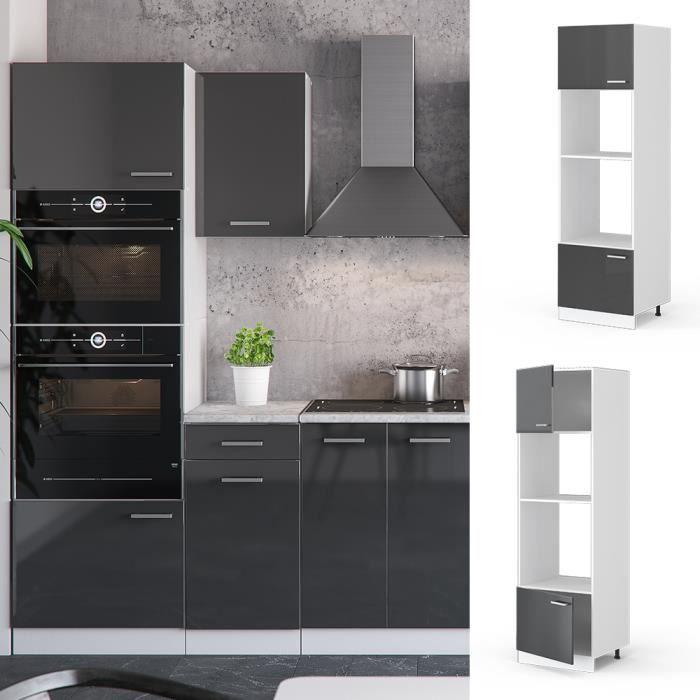 Vicco Armoire A Micro Ondes 60 Cm Elements Separes Colonne Meubles