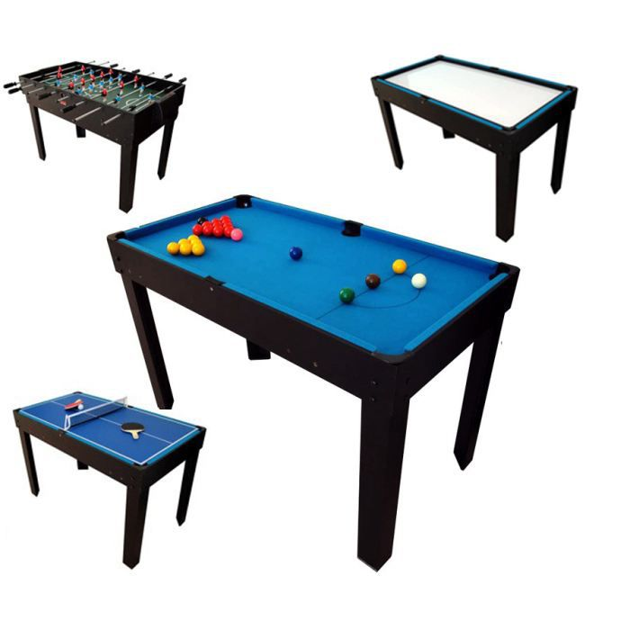 Billard table multi jeux 12 en 1 noir achat vente table multi jeux cdis - Table multi jeux 5 en 1 ...