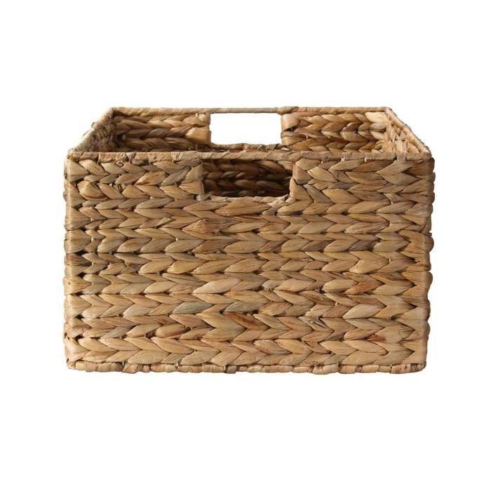 Panier /à linge en osier naturel grand panier de rangement. panier /à jouets Small L 34 x W 25 x H 55 cm