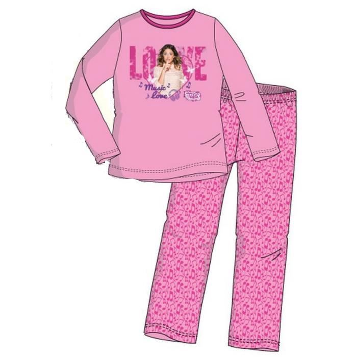 pyjama violetta 12 ans achat vente chemise de nuit. Black Bedroom Furniture Sets. Home Design Ideas