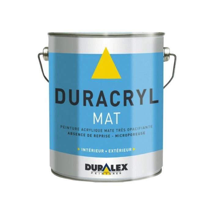 Peinture acrylique duracryl blanc mat 15l - Achat / Vente peinture - vernis Peinture acrylique ...