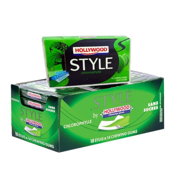 Hollywood style chlorophylle (18 pièces) - Achat / Vente chewing-gum ...