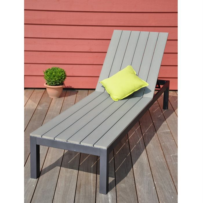 newport bain de soleil alu bois gris achat vente chaise longue transat bain de soleil. Black Bedroom Furniture Sets. Home Design Ideas