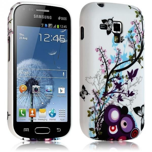 Coque souple pour samsung galaxy trend duos s7562 chat blanc car interior design - Samsung galaxy trend lite coque ...