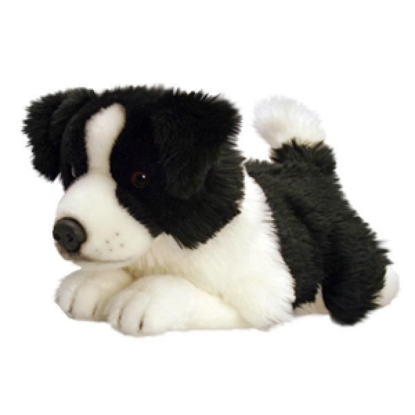 peluche chien border collie 50cm achat vente peluche cdiscount. Black Bedroom Furniture Sets. Home Design Ideas