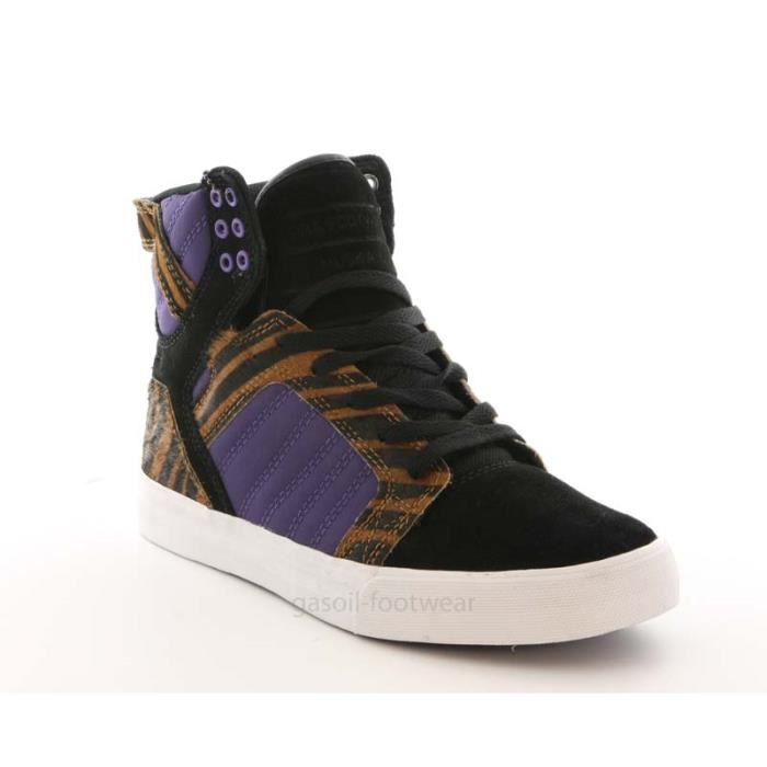 Supra Skytop black purple tiger ...