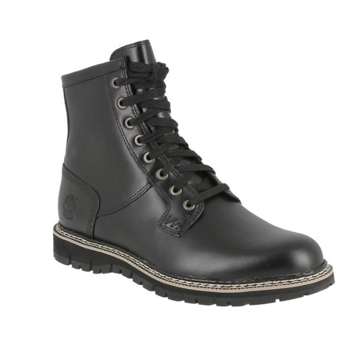 Bottine Timberland CA184D en cuir noir waterproof. odISZJB0mV