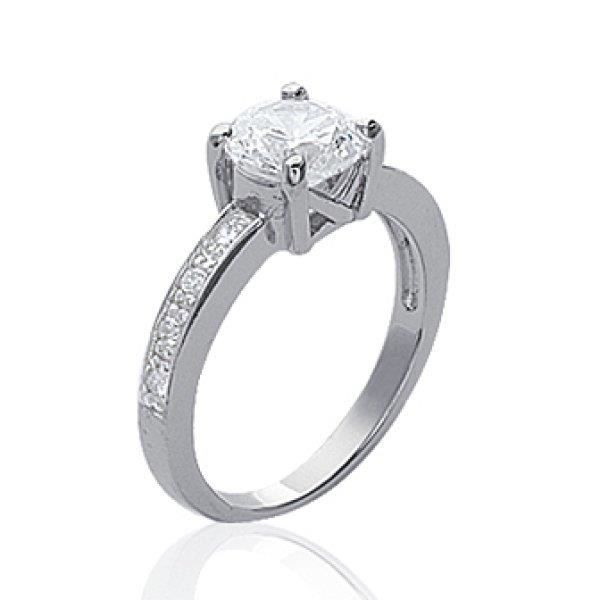 bague solitaire strass