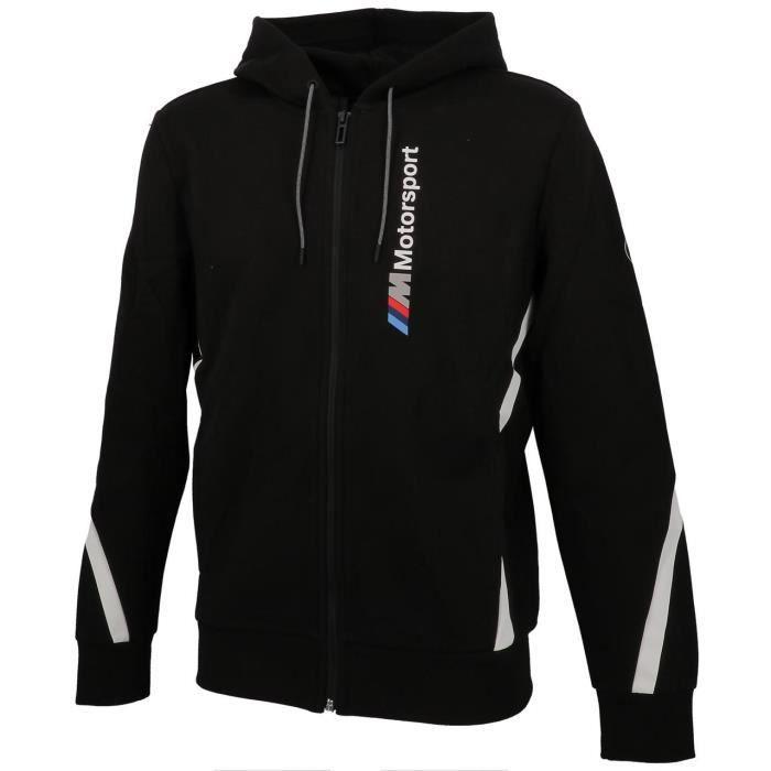 Vêtement Vestes sport Puma homme Bmw Mms Hooded Sweat Jacket taille Bleu marine