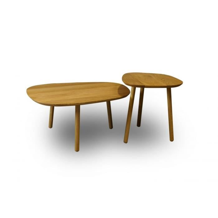 Ensemble De Deux Tables Basses Salon Reine Mer Achat