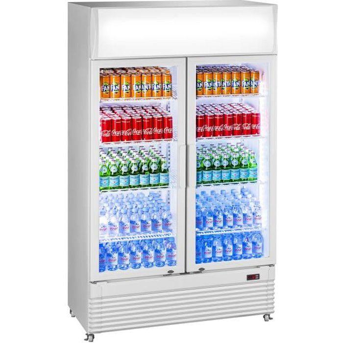 Réfrigerateur à boissons frigo à bouteilles 360 litres porte vitrée