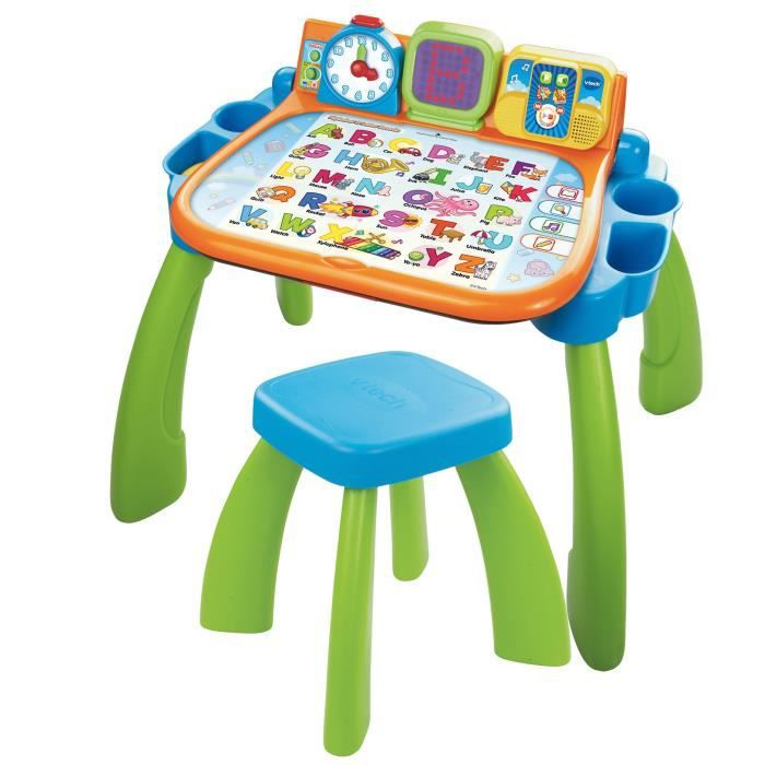 Vtech magi bureau interactif 3 en 1 achat vente table for Bureau vtech
