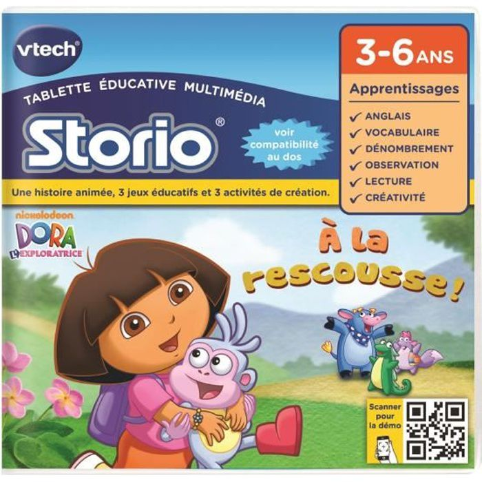 Vtech Jeu éducatif Storio Dora L Exploratrice
