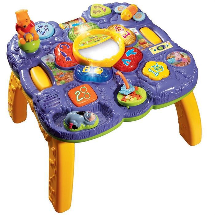 Winnie table d 39 veil parlante vtech achat vente table for Bureau vtech