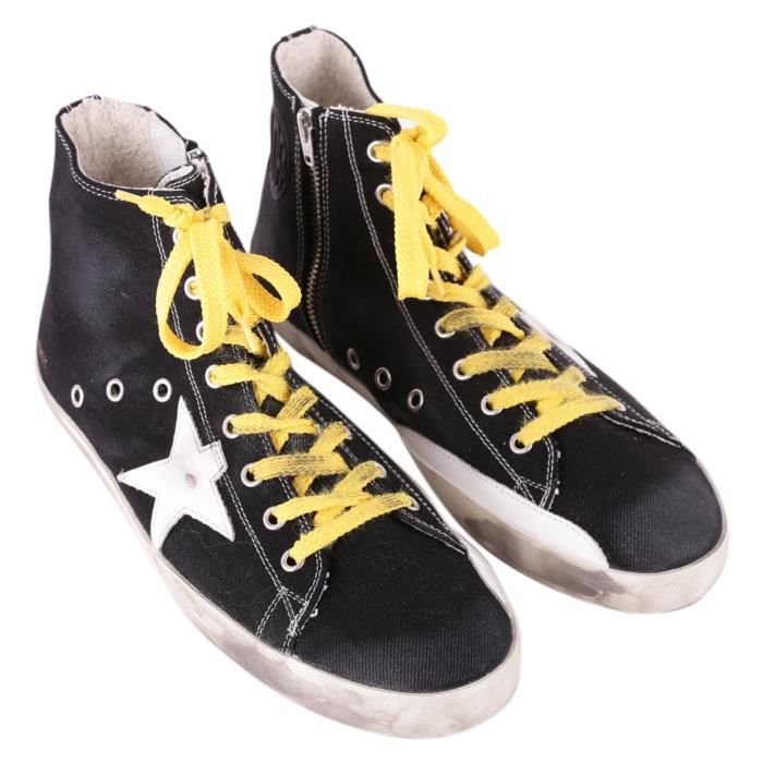 GOLDEN GOOSE HOMME GARMS59132B13 NOIR BASKETS MONTANTES