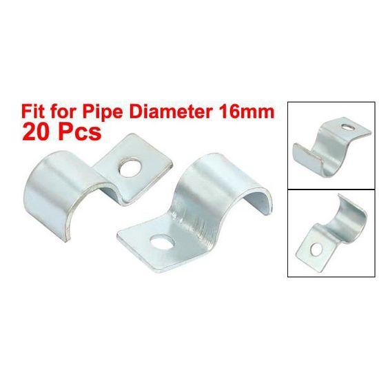 zinc plaqué Outil clip x 5 de type ouvert 16mm