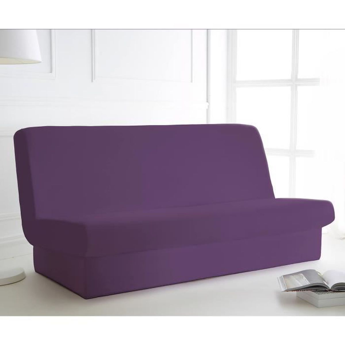 Housse Clic Clac Unie Bande Socle Deep Purple Design