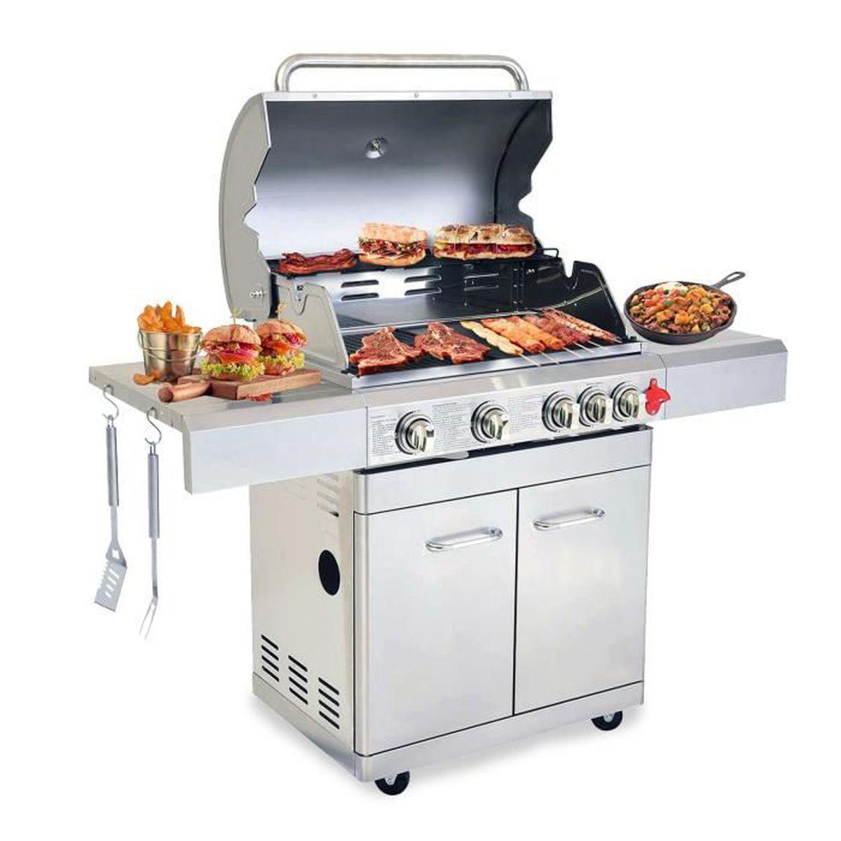 Barbecue Gaz Sans Plancha plancha plque inox gaz