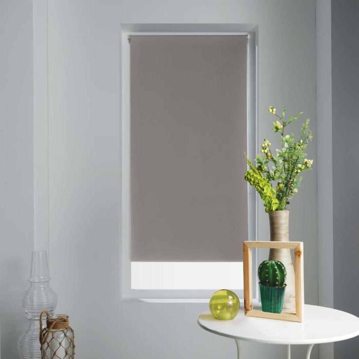 Deconovo Store Enrouleur Blanc Jour Nuit Tamisant sans Per/çage pour Cuisine Salle de Bain Facile /à Poser avec Clips 45x150cm