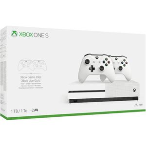 CONSOLE XBOX ONE Xbox One S 1To 2 manettes + 14 jours d'essai au Xb