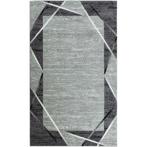 TAPIS SANTANA Tapis de salon - Gris, noir et blanc - 160