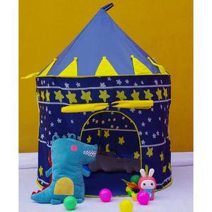 TENTE TUNNEL D'ACTIVITÉ Tente  de jeu enfant chateau maison de jouet motif