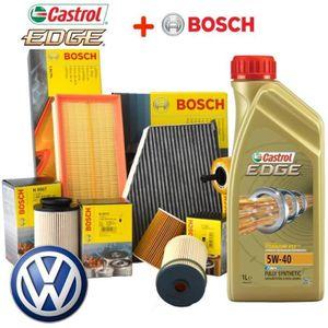 HUILE MOTEUR 4 FILTRES BOSCH + 5L HUILE CASTROL 5W40 VW PASSAT