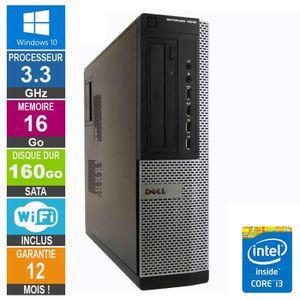 UNITÉ CENTRALE  PC Dell 7010 DT Core i3-3220 3.30GHz 16Go/160Go Wi