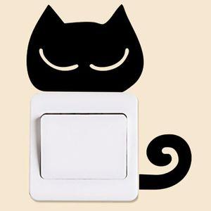 Cosanter Super Brillant Autocollant de Commutateur D/écoration de la Maison Luminous Petit Chat Switch Stickers pour R/éfrig/érateur Interrupteur Toilettes