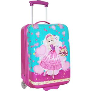 VALISE - BAGAGE Valise Cabine Fille KALY MADISSON - Rose et Turquo