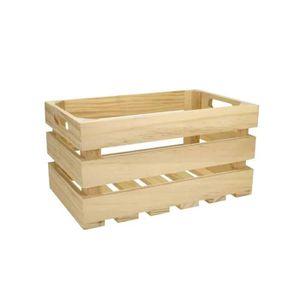 KIT SCRAPBOOKING Cagette bois ajourée 27 x 17 x 14 cm - MegaCrea {c