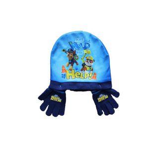 BONNET - CAGOULE ensemble bonnet et gants pat patrouille