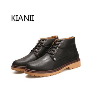 BOTTINE Kianii Militaires - Bottines en cuir - Homme Noir