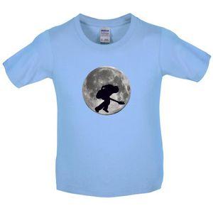 T-SHIRT Dressdown - Guitare basse sur la lune - T-Shirt En