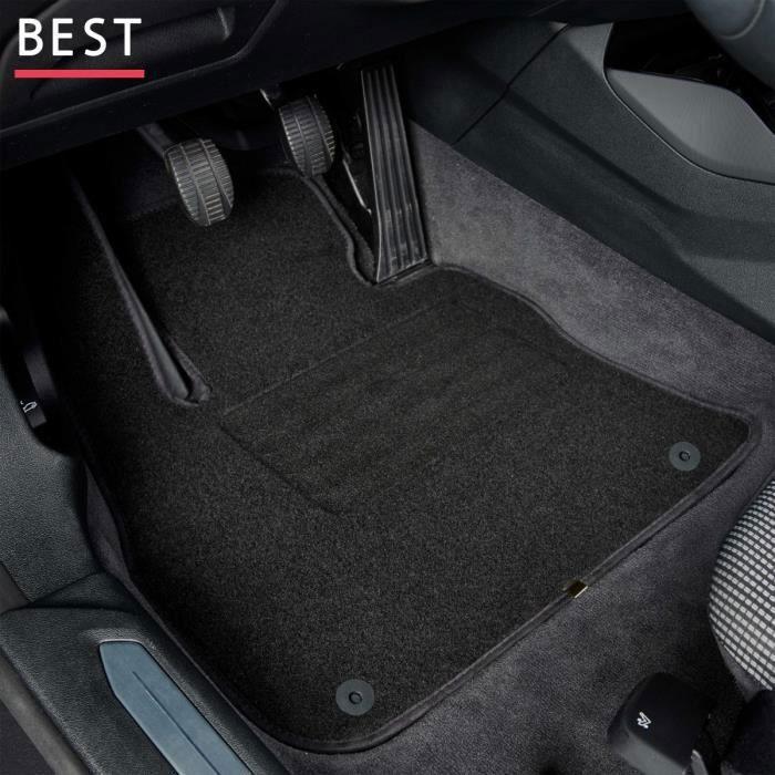Tapis de voiture - Sur Mesure pour CLIO 4 (2012 - 2019) - 3 pièces - Tapis de sol antidérapant pour automobile