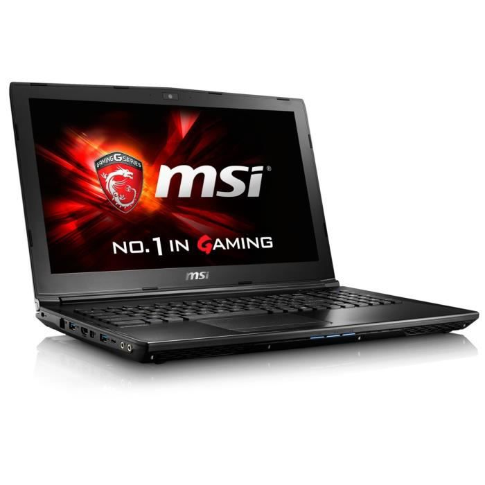 msi pc portable gamer gl62 6qf 1606xfr 15 6 hd 8go. Black Bedroom Furniture Sets. Home Design Ideas