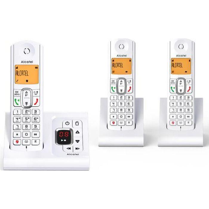 Téléphone Sans Fil Alcatel F 630 Voice Trio Grey
