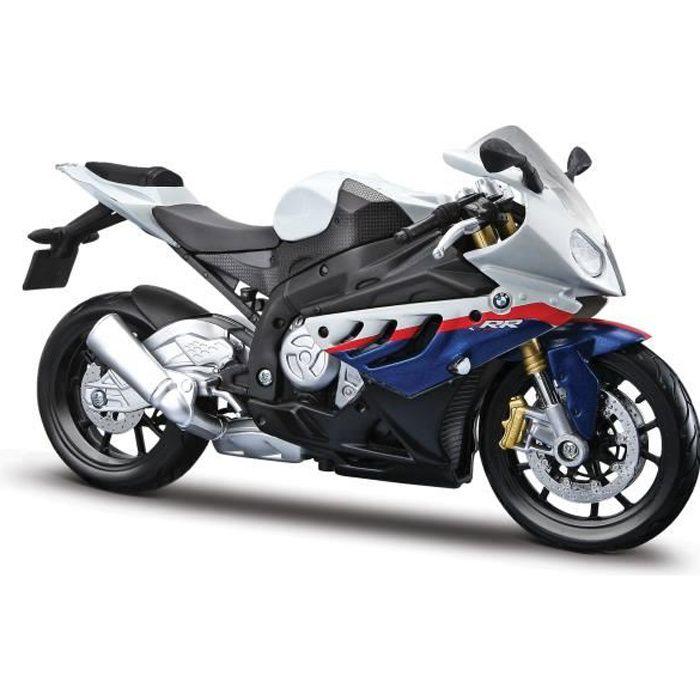Voiture Electrique HLR5V 1-12 Bmw S1000rr Motorcycle, White-red-blue