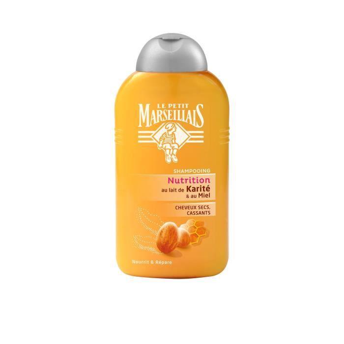 LE PETIT MARSEILLAIS - Shampooing Cheveux Secs, Abîmés / Cassants Karité - Miel Flacon - 250 ml